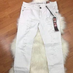 Dollhouse Skinny Distressed Jeans